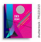 cover design template with...   Shutterstock .eps vector #791221315