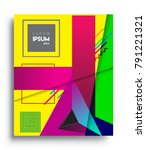 cover design template with...   Shutterstock .eps vector #791221321