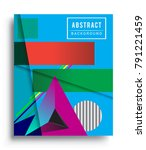 cover design template with...   Shutterstock .eps vector #791221459