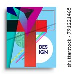 cover design template with...   Shutterstock .eps vector #791221465