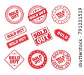 sold out logo badge  | Shutterstock .eps vector #791221519