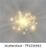 white glowing light burst... | Shutterstock .eps vector #791226961