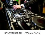 dj mixer  dj mix music on the... | Shutterstock . vector #791227147
