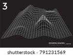 abstract vector landscape... | Shutterstock .eps vector #791231569