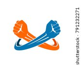 double fist logo | Shutterstock .eps vector #791232271