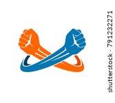 double fist logo | Shutterstock .eps vector #791232271