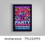 carnival party design template  ... | Shutterstock .eps vector #791232991
