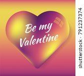 be my valentine. square... | Shutterstock .eps vector #791237374