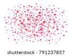 vector pink   red valentines... | Shutterstock .eps vector #791237857