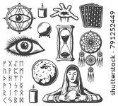 vintage mystic elements set... | Shutterstock .eps vector #791252449