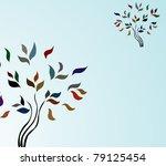 abstract tree invitation for... | Shutterstock . vector #79125454