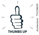 vector icon   thumbs up hand... | Shutterstock .eps vector #791258059
