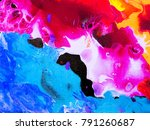 colorful creative abstract hand ... | Shutterstock . vector #791260687