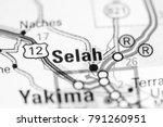 Small photo of Selah. Washington State on a map.