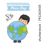 international day of peace. boy ... | Shutterstock .eps vector #791263435