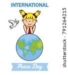 international day of peace.... | Shutterstock .eps vector #791264215