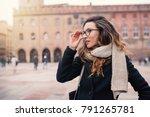 beautiful woman intimate... | Shutterstock . vector #791265781