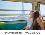 couple traveling in subway...   Shutterstock . vector #791268721