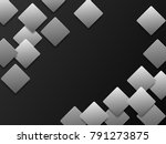 abstract background gray square ... | Shutterstock .eps vector #791273875
