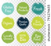 gluten free fresh raw food... | Shutterstock .eps vector #791274655