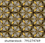 graphic flower pattern vector... | Shutterstock .eps vector #791274769