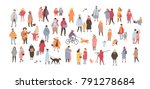 crowd of people dressed in... | Shutterstock .eps vector #791278684