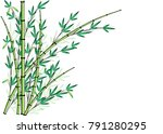 bamboo design vector | Shutterstock .eps vector #791280295