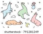 vector illustration of cute... | Shutterstock .eps vector #791281249