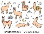 vector set of characters.... | Shutterstock .eps vector #791281261