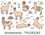 vector set of characters....   Shutterstock .eps vector #791281261