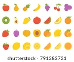 fruits flat icon | Shutterstock .eps vector #791283721