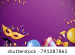 carnival background flat lay.... | Shutterstock .eps vector #791287861