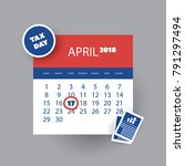 tax day reminder concept  ... | Shutterstock .eps vector #791297494