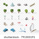 isometric high quality city... | Shutterstock .eps vector #791303191