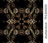 graphic modern seamless pattern ... | Shutterstock .eps vector #791304055