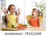 funny playful children girls...   Shutterstock . vector #791312389