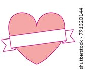 heart love with ribbon... | Shutterstock .eps vector #791320144