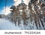 A Winter View Of A Ski Resort...