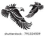 stencil for laser cutting.... | Shutterstock .eps vector #791324509