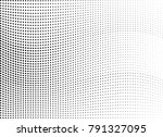 abstract halftone wave dotted... | Shutterstock .eps vector #791327095