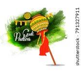 gudi padwa beautiful background | Shutterstock .eps vector #791327911