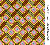 seamless abstract pattern with... | Shutterstock .eps vector #791344291