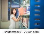 student holding books from... | Shutterstock . vector #791345281