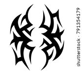 tattoo tribal vector design.... | Shutterstock .eps vector #791354179