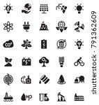 energy icons set   Shutterstock .eps vector #791362609