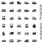 transportation icons set | Shutterstock .eps vector #791362639
