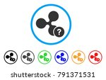 ripple unknown status rounded... | Shutterstock .eps vector #791371531