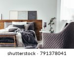 close up of comfy  gray... | Shutterstock . vector #791378041