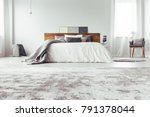 low angle of monochromatic... | Shutterstock . vector #791378044