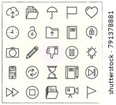 matherial design line icons set ... | Shutterstock .eps vector #791378881